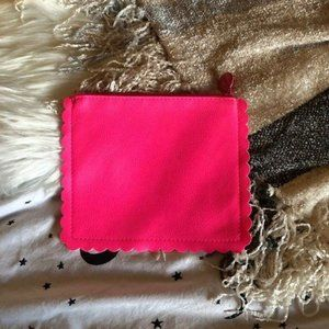 Ipsy Bright Pink Scalloped Edge Makeup Bag